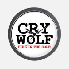 CRY WOLF - FIRE IN THE HOLE! Wall Clock
