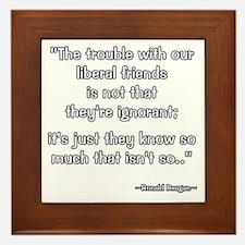 President Reagan Not Ignorant Framed Tile