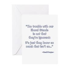 President Reagan Not Ignorant Greeting Cards (Pk o