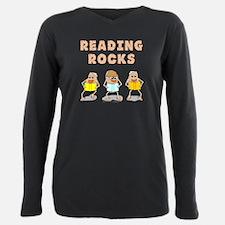 Reading Rocks Plus Size Long Sleeve Tee