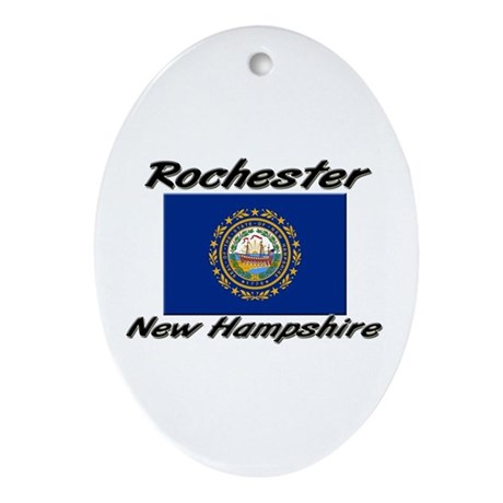 Rochester New Hampshire Oval Ornament