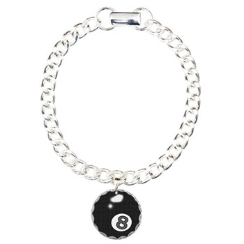 8 Ball Billiard Charm Bracelet