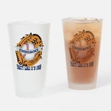 Chicago Baseball Party like it's 19 Drinking Glass