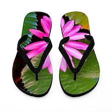 Pink Flower Photo 6 Flip Flops