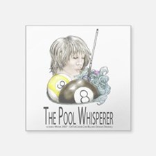 "The Pool Whisperer Square Sticker 3"" x 3"""