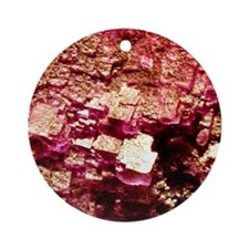 Earth Crystals Round Ornament