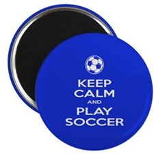"""Cute Keep calm and play badminton 2.25"""" Magnet (10 pack)"""