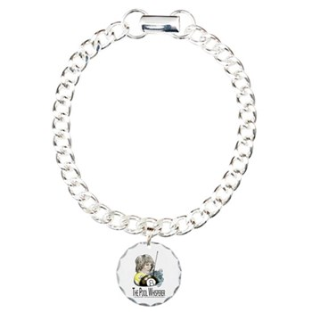 The Pool Whisperer Billiards Parody Charm Bracelet