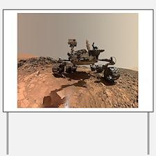 Mars Rover Curiosity Selfie Yard Sign