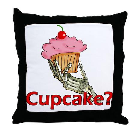 Skeleton Hand Cupcake Throw Pillow