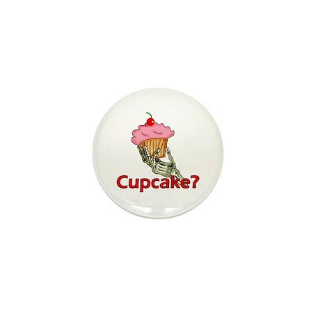 Skeleton Hand Cupcake Mini Button