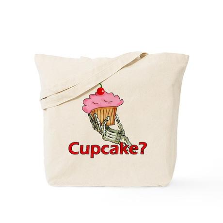 Skeleton Hand Cupcake Tote Bag