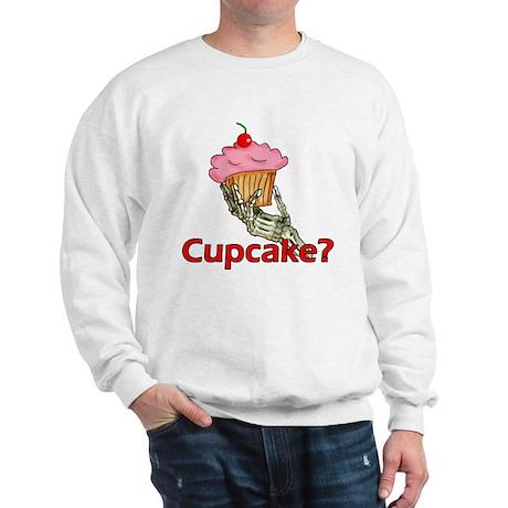 Skeleton Hand Cupcake Sweatshirt