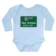 Cute Us cities Long Sleeve Infant Bodysuit
