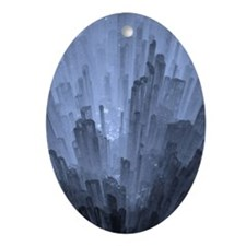 Earth Crystals Oval Ornament