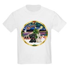 Xmas Magic & 2 Scotties Kids Light T-Shirt