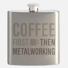 Coffee Then Metalworking Flask