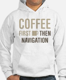 Coffee Then Navigation Jumper Hoody