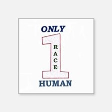 "Funny Human race Square Sticker 3"" x 3"""