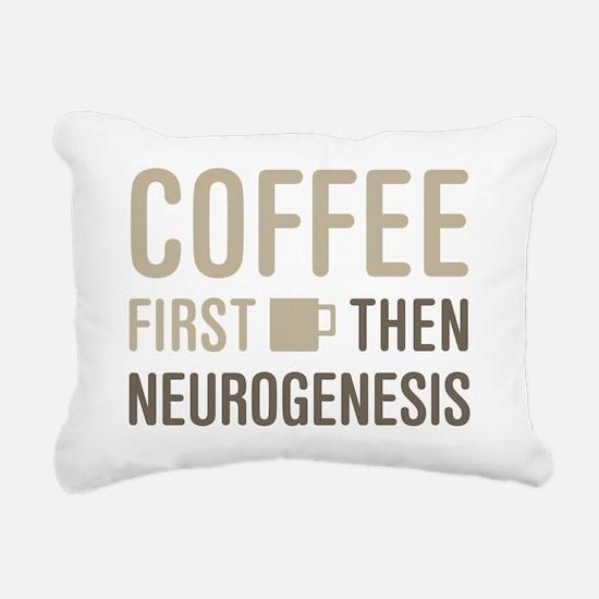 Coffee Then Neurogenesis Rectangular Canvas Pillow