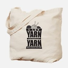I luv Yarn Tote Bag