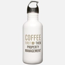Coffee Then Property M Water Bottle