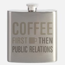 Coffee Then Public Relations Flask