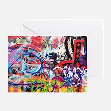 Unique Graffiti Greeting Card