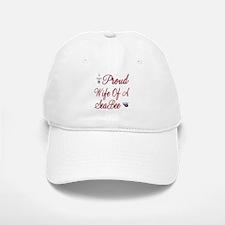 proud wife of a seabee Baseball Baseball Cap