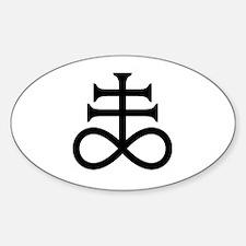 Alchemy-Sulfur Symbol Sticker (Oval)