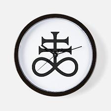 Alchemy-Sulfur Symbol Wall Clock