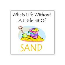 """Cute Beach Square Sticker 3"""" x 3"""""""