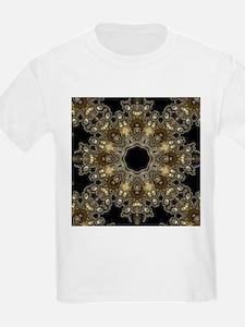 new age gold floral mandala T-Shirt