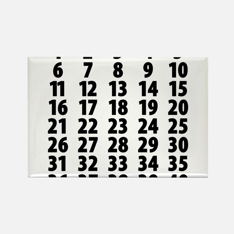 Cute Countdown Rectangle Magnet