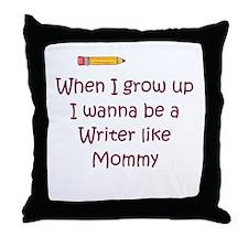 I Wanna Be A Writer Throw Pillow