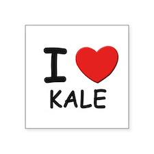 """Funny Kale Square Sticker 3"""" x 3"""""""