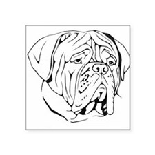 "Cute Dogue de bordeaux Square Sticker 3"" x 3"""