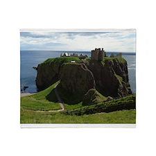 Dunnottar Castle Throw Blanket
