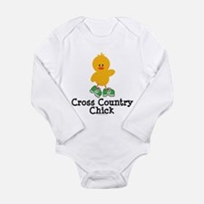 Cute Runner chick Long Sleeve Infant Bodysuit