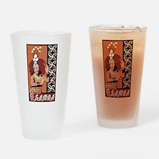 Samoan Dance Taupou Drinking Glass