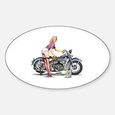 Unique Pinup girl Sticker (Oval)
