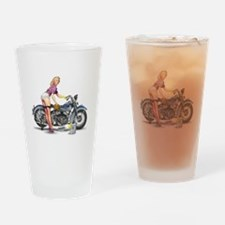 Cute Pinup girl Drinking Glass