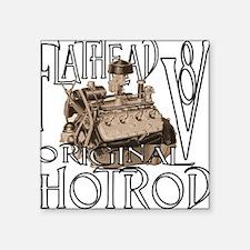 "Cute Ford flathead Square Sticker 3"" x 3"""
