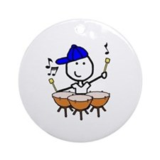 Boy & Timpani Ornament (Round)