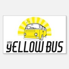 Little Yellow Bus 3 png Sticker (Rectangle)