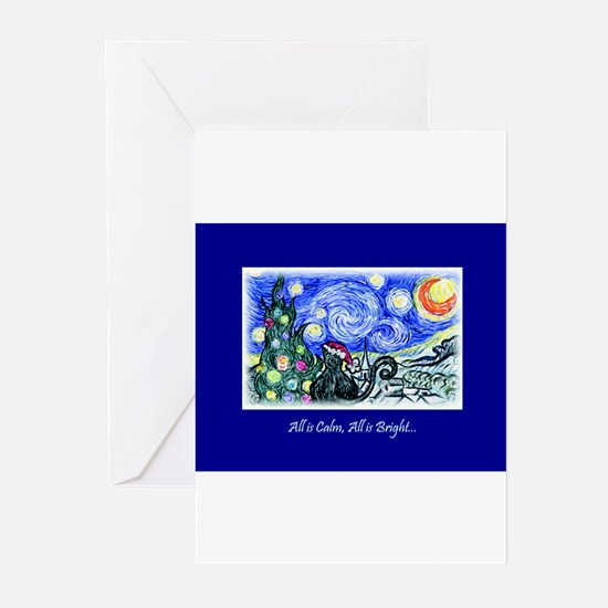 Unique Van gogh starry night Greeting Cards (Pk of 20)