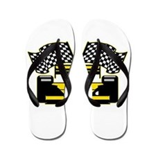 YELLOW RACECAR Flip Flops