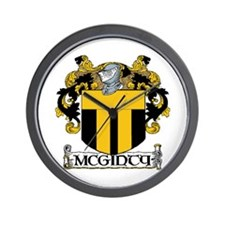 McGinty Coat of Arms Wall Clock