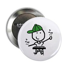 "Boy & Keyboard 2.25"" Button (100 pack)"