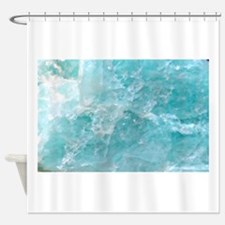 Blue-Agate-Art-Design Shower Curtain